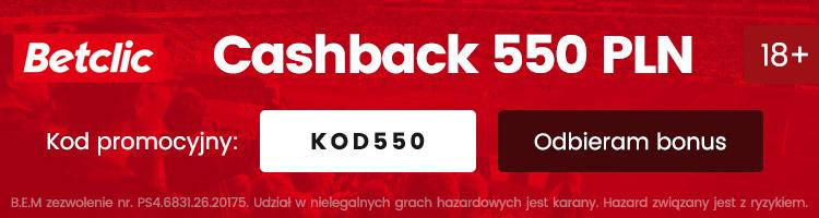 legalny bukmacher betclic najwyższy bonus 550 pln